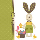 Happy Easter greeting card with bunny boy Royalty Free Stock Images