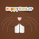 Happy Easter Greeting Card. With Cartoon Rabbit vector illustration Royalty Free Stock Images