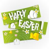 Happy Easter Greeting Card Royalty Free Stock Photography