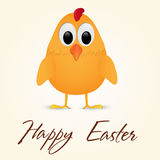 Happy Easter Greeting Card with chicken. Vector illustration. Royalty Free Stock Photography