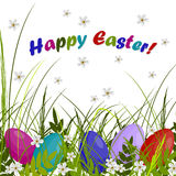 Happy Easter greeting card. Royalty Free Stock Images