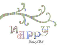 Happy Easter greeting card cover design Stock Photo