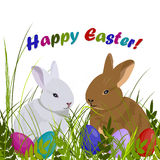 Happy Easter greeting card. Stock Photography