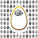Happy easter greeting card design. Abstract design egg pattern Stock Photo