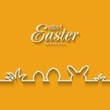 Happy Easter greeting card design. Happy Easter celebration greeting card design royalty free illustration