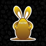 Happy easter greeting design. Happy easter greeting card design, with egg background pattern design Stock Photo