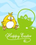 Happy Easter greeting card design Royalty Free Stock Images