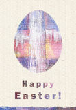 Happy Easter greeting card. Easter egg. Congratulation with Easter. Stock Photo