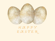 Happy Easter greeting card. Easter eggs. Easter day. Royalty Free Stock Photography