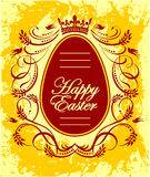 Happy Easter greeting card with egg Stock Photos