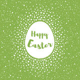 Happy Easter greeting card, egg shape and dots, splash, specks Royalty Free Stock Photography