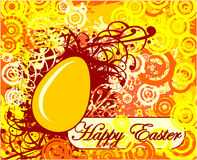 Happy Easter greeting card with egg Stock Photography