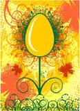 Happy Easter greeting card with egg Stock Images