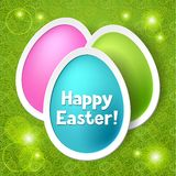 Happy Easter greeting card with eggs Royalty Free Stock Photo