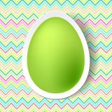 Happy Easter greeting card with eggs Royalty Free Stock Image