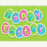 Happy Easter greeting card with eggs Royalty Free Stock Images