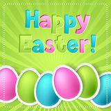 Happy Easter greeting card with eggs Stock Photography