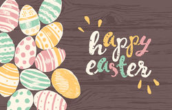 Happy Easter greeting card eggs Royalty Free Stock Photos