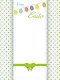 Happy Easter greeting card an eggs bunting Stock Photo