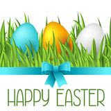Happy Easter greeting card with eggs. Concept can be used for holiday invitations and posters Royalty Free Stock Image