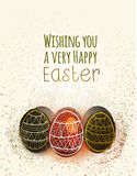 Happy Easter greeting card with eggs. EPS10 vector Vector Illustration