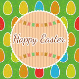 Happy Easter! Greeting card with eggs. Happy Easter postcard Stock Image