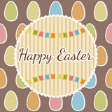 Happy Easter greeting card with eggs. Happy Easter postcard Stock Photos