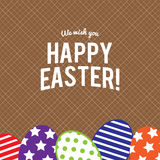 Happy Easter greeting card with eggs ,vector design royalty free stock image