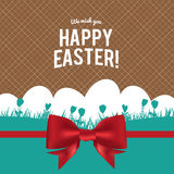 Happy Easter greeting card with eggs ,vector design royalty free stock images