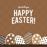 Happy Easter greeting card with eggs ,vector design royalty free stock photo