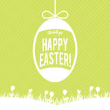 Happy Easter greeting card with eggs ,vector design Royalty Free Stock Photography
