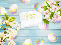 Happy easter Greeting Card. EPS 10 Stock Image