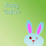 Happy Easter! Greeting Card, Funny Bunny. Royalty Free Stock Images