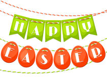 Happy Easter greeting card with garland of flags Stock Images