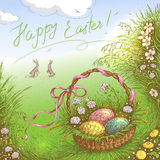 Happy Easter Greeting Card. Stock Image