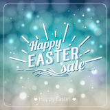 Happy Easter greeting card. Hand Drawn lettering Design Label on Royalty Free Stock Photography