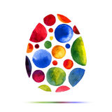 Happy Easter  greeting card or invitation. Happy Easter! Watercolor round spot egg Stock Image