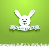 Happy Easter greeting card invitation Stock Images