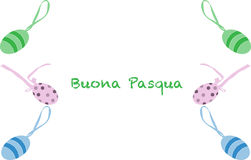 Happy easter greeting card, Italian version. Happy easter greeting card illustration, Italian version stock illustration