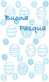 Happy easter greeting card, Italian version. Minimal illustration vector illustration