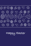 Happy easter greeting card, Italian version royalty free illustration