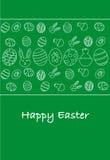 Happy easter greeting card, Italian version. Minimal illustration royalty free illustration