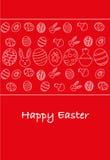 Happy easter greeting card, Italian version. Minimal illustration stock illustration