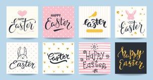 Happy Easter Congratulations Card Design Templates stock illustration
