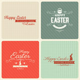 Happy Easter greeting card set Royalty Free Stock Photography