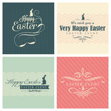 Happy Easter greeting card set Stock Photos