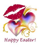 Happy Easter greeting card with smile Stock Photography