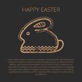 Happy easter Greeting card template with Easter rabbit Royalty Free Stock Image