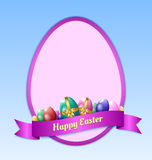 Happy Easter greeting card template Stock Photos
