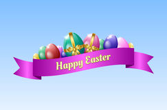 Happy Easter greeting card template stock images